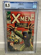 X-MEN #14 CGC 8.5 (VF+) 1ST APPEARANCE OF THE SENTINELS OW to WHITE PAGES