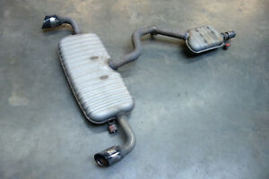 Ulter Duplex Sportauspuff Audi TT 8J ab 2007-120x80mm oval eingerollt