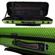 Tonareli Oblong Fiberglass Viola Case Special Edition Green Checkered VAFO1006