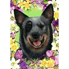 Easter House Flag - Blue Australian Cattle Dog 33072