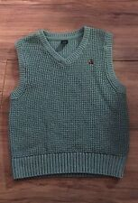 Baby Gap Boys V Neck Sweater Vest Size 4T Years Green