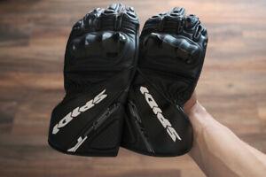 Spidi STS-R2 Leather Gloves - Black