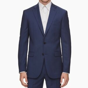 🌻Calvin Klein Slim Fit Blue Suit Jacket Size 40 Regular {NEW WITH TAGS!}