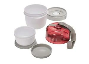 Rubbermaid Fasten+Go Soup Kit + Removable Carry Strap Ruby Red 3 Pk