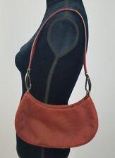 DKNY Donna Karan women brown purse handbag satchel baguette clutch small bag