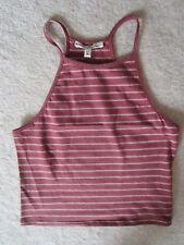 WOMENS EXPRESS ONE ELEVEN STRIPED SLEEVELESS CROP TOP KNIT TOP SMALL S BRAND NEW