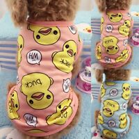 Spring Summer Pet Cat Dog Rhubarb Duck Clothes Puppy Small Vest T Shirt Apparel