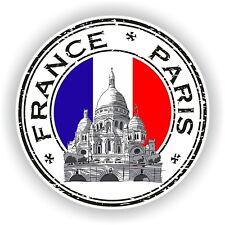 Sello de la etiqueta engomada de Francia Paris Montmartre Sello Escarapela camión portátil coche de parachoques