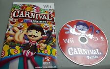 Carnival Games (Nintendo Wii, 2007) Disk and Manual Only As Is Working Tested