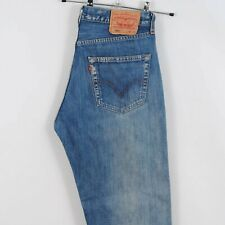 Mens Levis 501 Straight Leg Jeans in Faded Mid Blue Made in Spain W33 L36