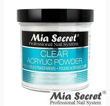 Mia Secret Acrylic Nail Powder Professional Nail System Size: 4 oz Clear - USA
