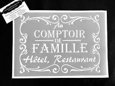 Pochoir Adhésif Réutilisable 30 x 20 cm Affiche Famille Vintage / Made in FR