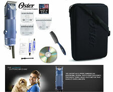 Oster Turbo A5 2 Vitesse Coupe-Ongles 10,5F &10 Large Lame ,Étui,DVD,Comb Dog ,