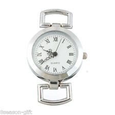 "HX  Round Watch Dial/Face Roma Figures Silver Plated 5x3cm(2"" x1 1/8"")"