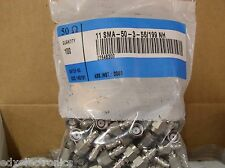 11_SMA-50-3-56/199_NH HUBER+SUHNER 50 Ω Coaxial Cable Connector (Quantity 100)