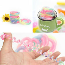 Fashion Women Telephone Line Hair Elastic Ring Bands Ties rope Device Bracelet