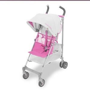 NEW Maclaren Volo Silver/Pink Pushchair Stroller Travel System Baby Childrens