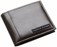 New Tommy Hilfiger Cambridge Passcase  Men's Brown Leather Wallet 5675/02
