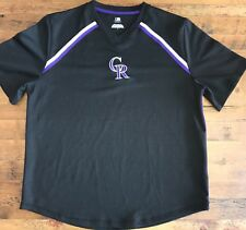 7d3a56afca7 Colorado Rockies Mens Large Athletic T-Shirt Jersey Embroidered CR Black  S S MLB