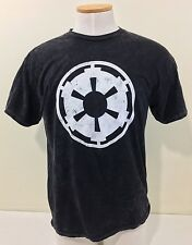 Star Wars Medium Size Smoky Black Cotton Shirt With Gear Design On Front