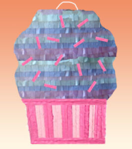 Cupcake Pinata birthday party Decoration Pull string Hit WITH OPTION OF STICK