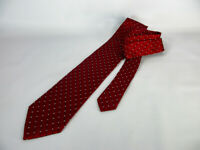 Geoffrey Beene Men's Tie, 100% Silk, Necktie, Red with Crosshatch Print