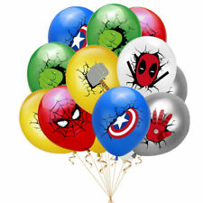 Birthday party latex balloons Avengers bunting flag banner decorations j