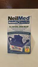 NeilMed NASAFLO Neti Pot by Dr. Mehta, 50 Premixed Packets (Exp: 11/21, 08/22)