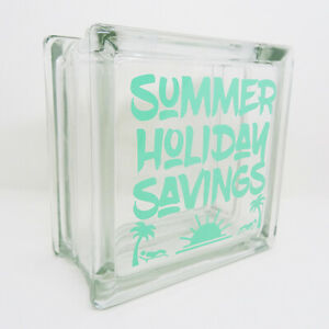 SUMMER HOLIDAY SAVINGS jar large reusable Glass Money Box. Can be personalised!