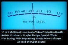 13 in 1 Multi Linux 32GB USB Studio Pack Artist Musician Producer audio video