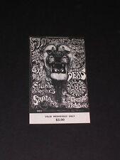 Grateful Dead & Santana Psychedelic Fillmore Ticket by Lee Conklin Bg134
