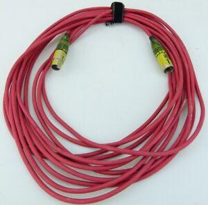 5-pol DMX Kabel - 10 m - ROT mit 5 pol XLR Stecker / Kupplung male / female