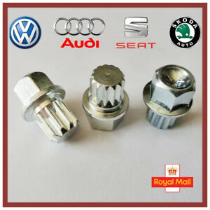 New Audi VW Seat Skoda Locking Wheel Nut Key ABC 5 Type 16 Splines