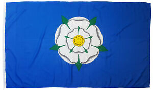 Yorkshire county flag rose york mod sewn woven polyester stitched embroidered