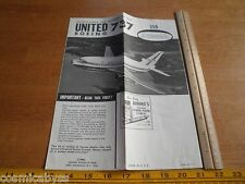 1966 Aurora Model Kit 359 United Boeing 737 airplane Instructions Only!