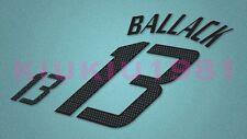Germany Ballack #13 World Cup 2002 Homekit Nameset Printing