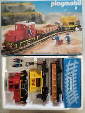PLAYMOBIL Train avec wagons marchandises ref 4027 en boîte