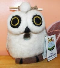 Snowy Owl Wild Woolies Felt Birdhouse, Handmade, Totally Unique, Use Outdoors!