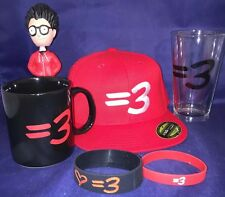 Ray William Johnson =3 YouTube Show Hat Mug Glass Bobble Head & Bracelet New Lot