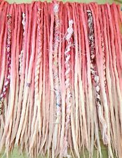 Wool Dreadlocks  Dreads set of 40 Double Ended Sweet Pink