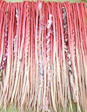 Wool Dreadlocks  Dreads set of 40 Double Ended Sweet Pink