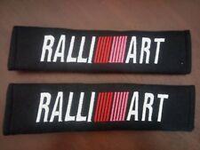 Car Seat Belt Cover shoulder Pads Padding 2x Ralliart Mitsubishi evo lancer