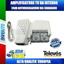 AMPLIFICATORE DA INTERNO 1 OUT AGC GUADAGNO AUTOREGOLABILE da 12 a 24dB - 560541
