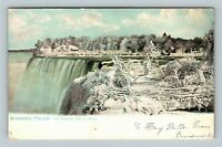 Niagara Falls NY, American Side In Winter, Vintage New York Postcard