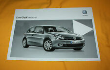 VW Golf Move 2012 prospectus brochure depliant Prospetto catalog folder broschyr
