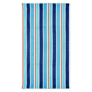 """Ocean Blue Striped Over-Sized Beach Towels 100% Cotton 450 GSM 34"""" x 64"""""""