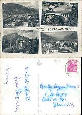 VISIONI DI PONTE NELLE ALPI,VIAGGIATA-F.G.-VENETO(BL)N.42793