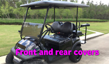 Club Car Precedent Golf Cart Front & Rear Seat Cover Combo -  STAPLE ON !!