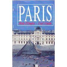 PARIS mode d'emploi en FRANCAIS et ANGLAIS Illustration Astuce visite 1994/1995