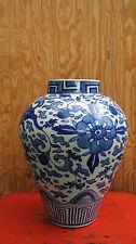 Large Antique Japanese Blue and White Porcelain Jar Imari or Arita